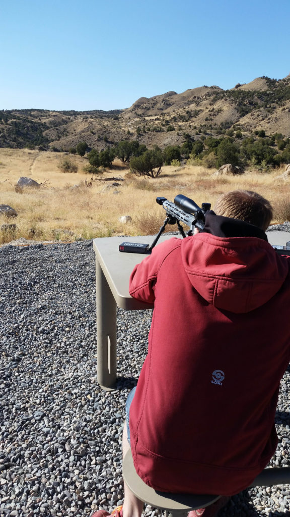 Shooter at an LRP Bench