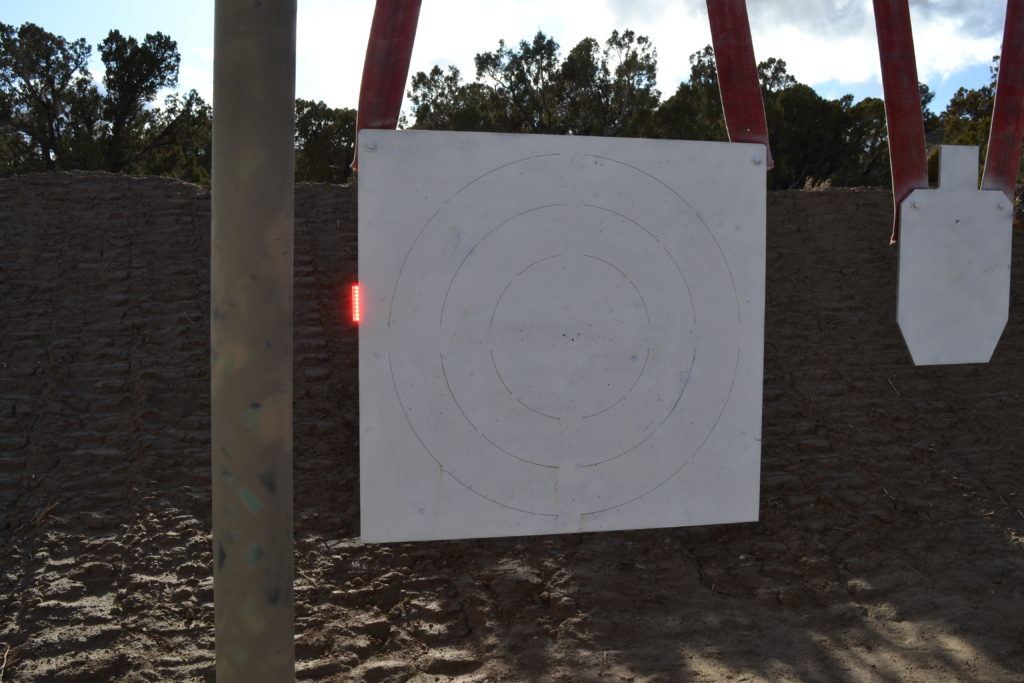 LRP 2000 yard target showing flasher in operation