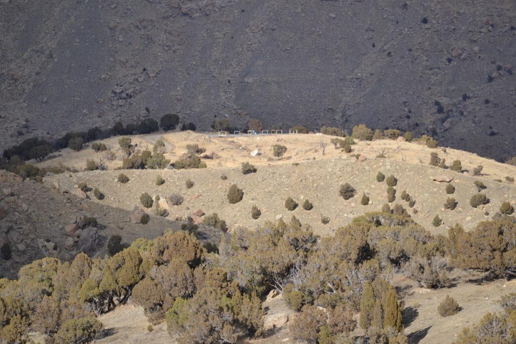 Long Range Precision range firing line as seen from the 1000-yard steel